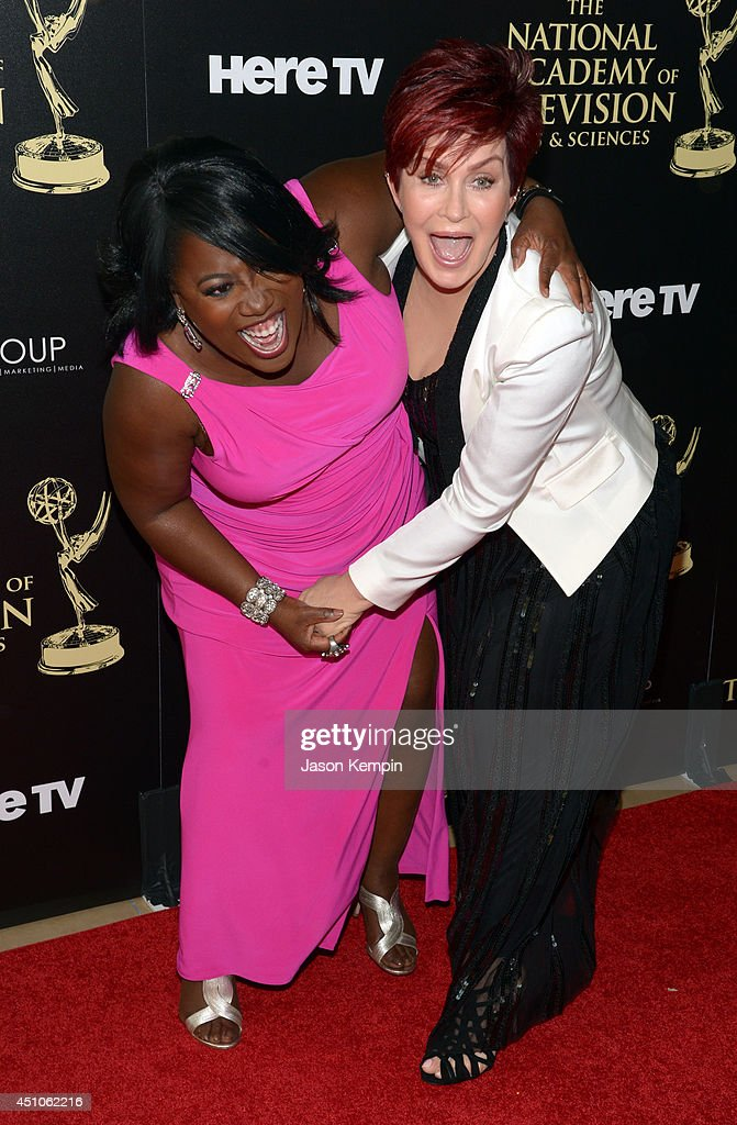 TV personalities Sheryl Underwood (L) and Sharon Osbourne attend The 41st Annual Daytime Emmy Awards at The Beverly Hilton Hotel on June 22, 2014 in Beverly Hills, California.