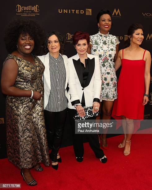 TV Personalities Sheryl Underwood Sara Gilbert Sharon Osbourne Aisha Tyler and Julie Chen attend the 2016 Daytime Emmy Awards at The Westin...