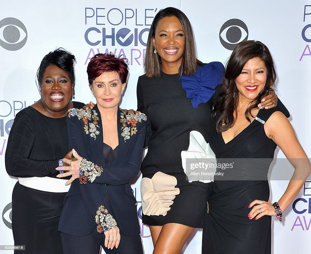 TV personalities Sheryl Underwood, Sharon Osbourne, Aisha Tyler and Julie Chen arrive at the People's Choice Awards 2016 at Microsoft Theater on January 6, 2016 in Los Angeles, California.