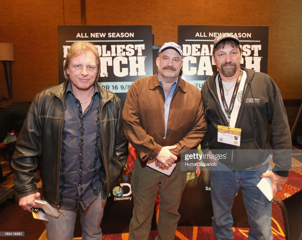 TV personalities Sig Hansen, Keith Colburn and Jonathan Hillstrand attend Deadliest Catch's Twitter For Tough Guys during the 2013 SXSW Music, Film + Interactive Festival at Hyatt Regency Austin on March 9, 2013 in Austin, Texas.