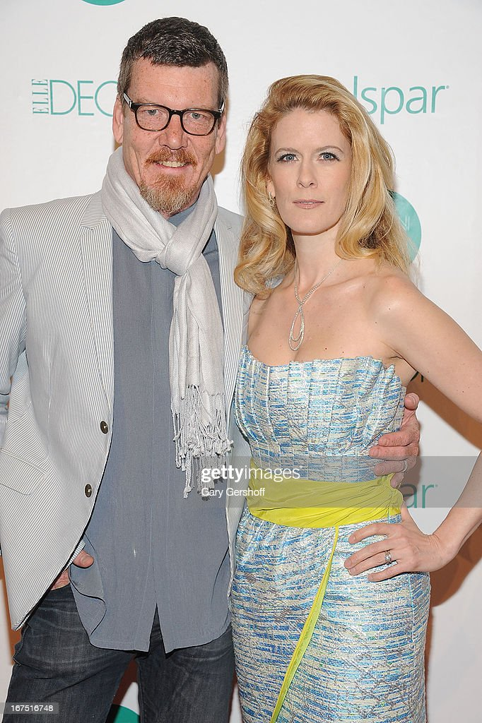 TV personalities Simon van Kempen (L) and Alex McCord attend Housing Works 9th Annual Design On A Dime Benefit at Metropolitan Pavilion on April 25, 2013 in New York City.