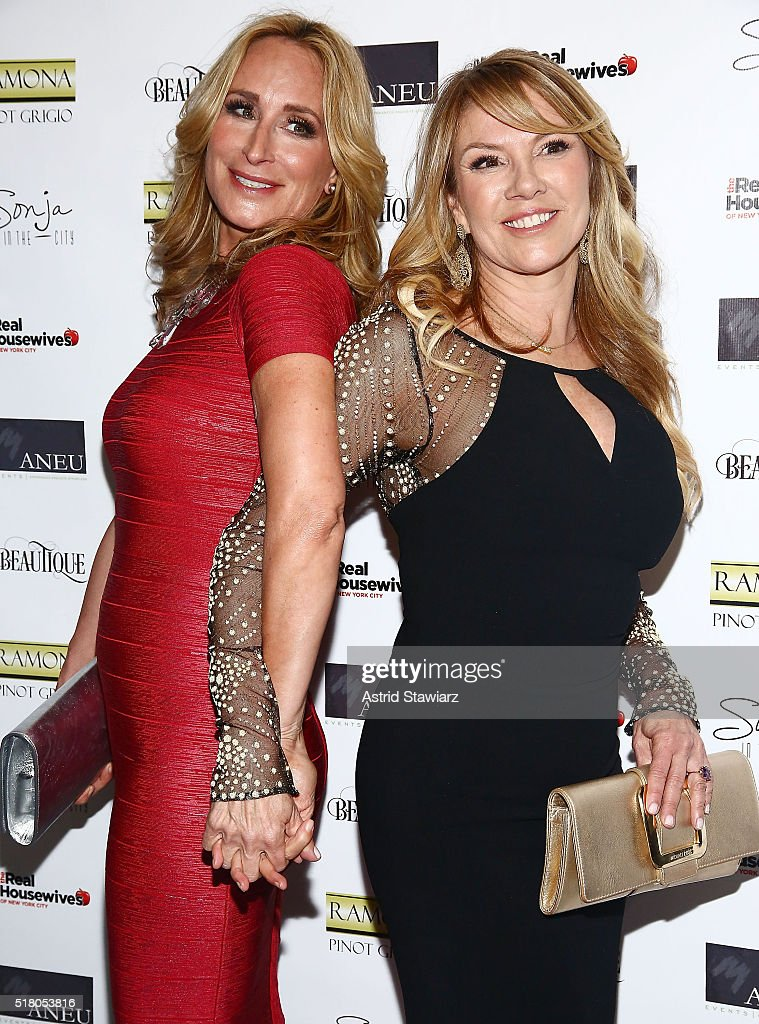 TV personalities Sonja Morgan and Ramona Singer attend 'The Real Housewives Of New York City' Season 8 Premiere Party at Beautique on March 29, 2016 in New York City.