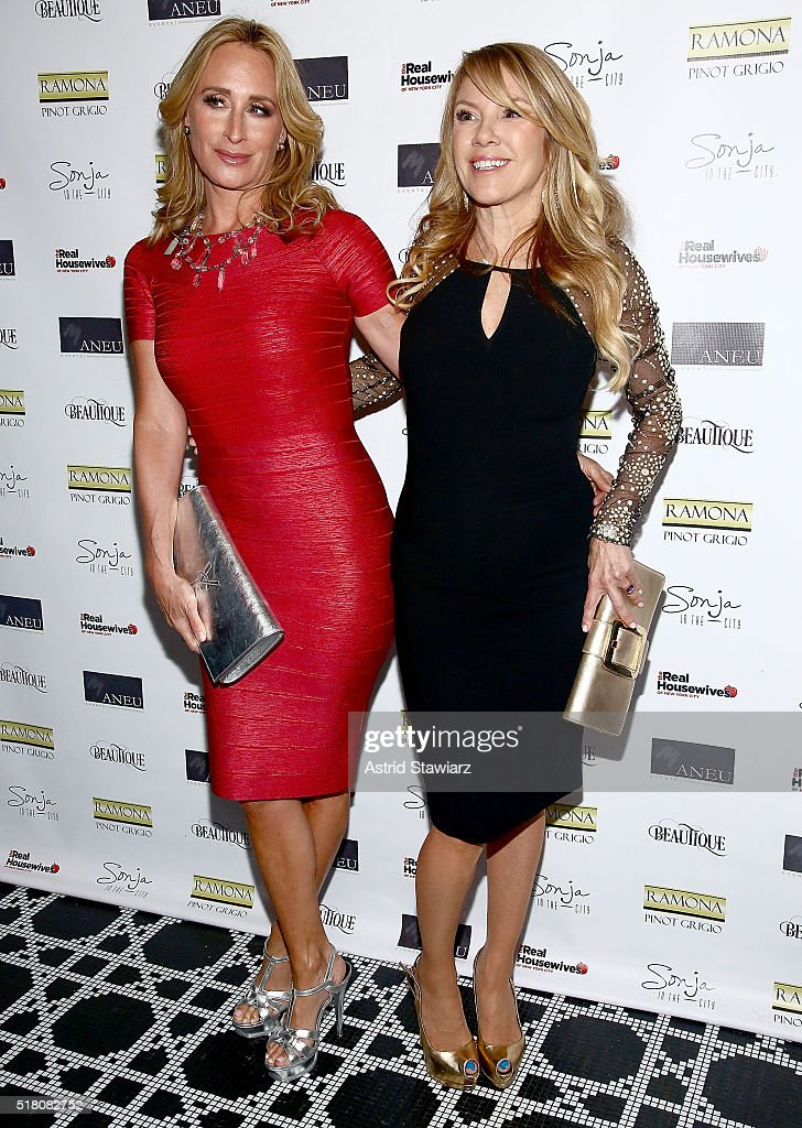 TV personalities Sonja Morgan and Ramona Singer attend 'The Real Housewives Of New York City' Season 8 Premiere Party at Beautique on March 29 2016...
