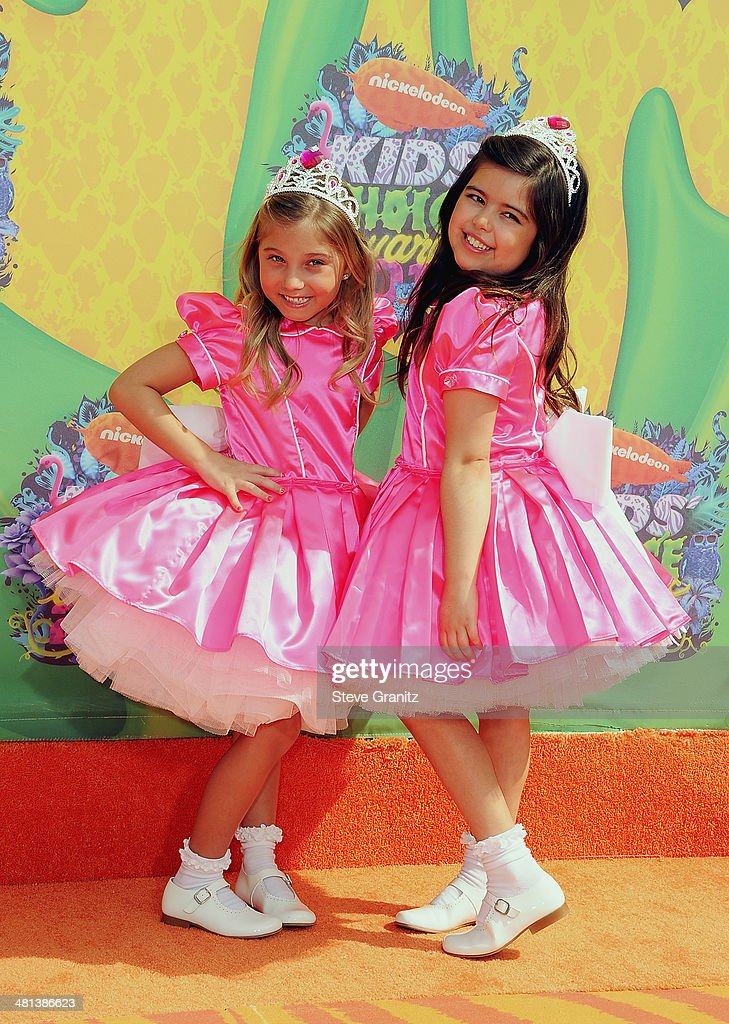 TV personalities Sophia Grace Brownlee (R) and Rosie Grace attend Nickelodeon's 27th Annual Kids' Choice Awards held at USC Galen Center on March 29, 2014 in Los Angeles, California.