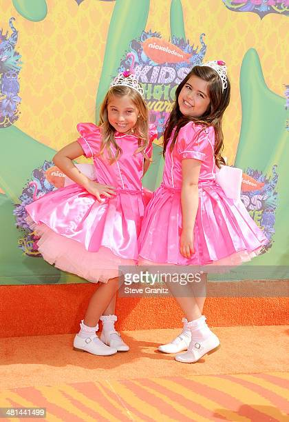 TV personalities Sophia Grace Brownlee and Rosie Grace McClelland attend Nickelodeon's 27th Annual Kids' Choice Awards held at USC Galen Center on...