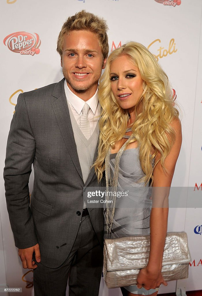 TV personalities Spencer Pratt and Heidi Montag arrive at Maxim's 10th Annual Hot 100 Celebration Presented by Dr Pepper Cherry, True Religion Brand Jeans, Stolichnaya Vodka and Corona held at Barker Hangar on May 13, 2009 in Santa Monica, California.