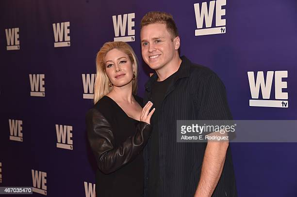 TV personalities Spencer Pratt and Heidi Montag attend the WE tv presents 'The Evolution of The Relationship Reality Show' at The Paley Center for...