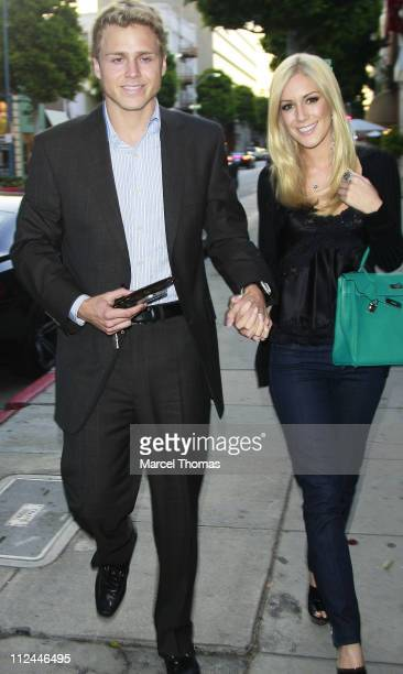 TV personalities Spencer Pratt and Heidi Montag visit Mr Chow restaurant on June 4 2008 in Beverly Hills California
