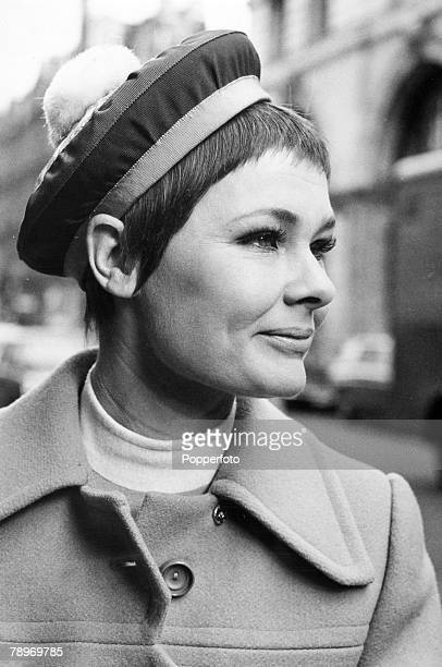 27th February 1968 London Award winning British actress Judi Dench one of the greatest actors of the postwar period pictured wearing a fashionable...