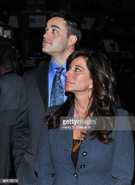 Personalities Steven Ward and JoAnn Ward attend the ringing of the opening bell at the New York Stock Exchange on December 29 2009 in New York City