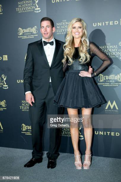 Personalities Tarek and Christina El Moussa attends the 44th Annual Daytime Emmy Awards at Pasadena Civic Auditorium on April 30 2017 in Pasadena...