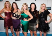 TV personalities Taylor Armstrong Lisa Vanderpump Adrienne Maloof Kyle Richards and Kim Richards of Real Housewives of Beverly Hills attend the Bravo...