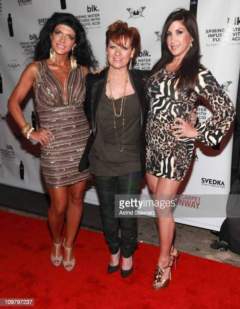 TV personalities Teresa Giudice Caroline Manzo and Jacqueline Laurita and daughter Ashley Laurita visits Kiss Fly on March 5 2011 in New York City