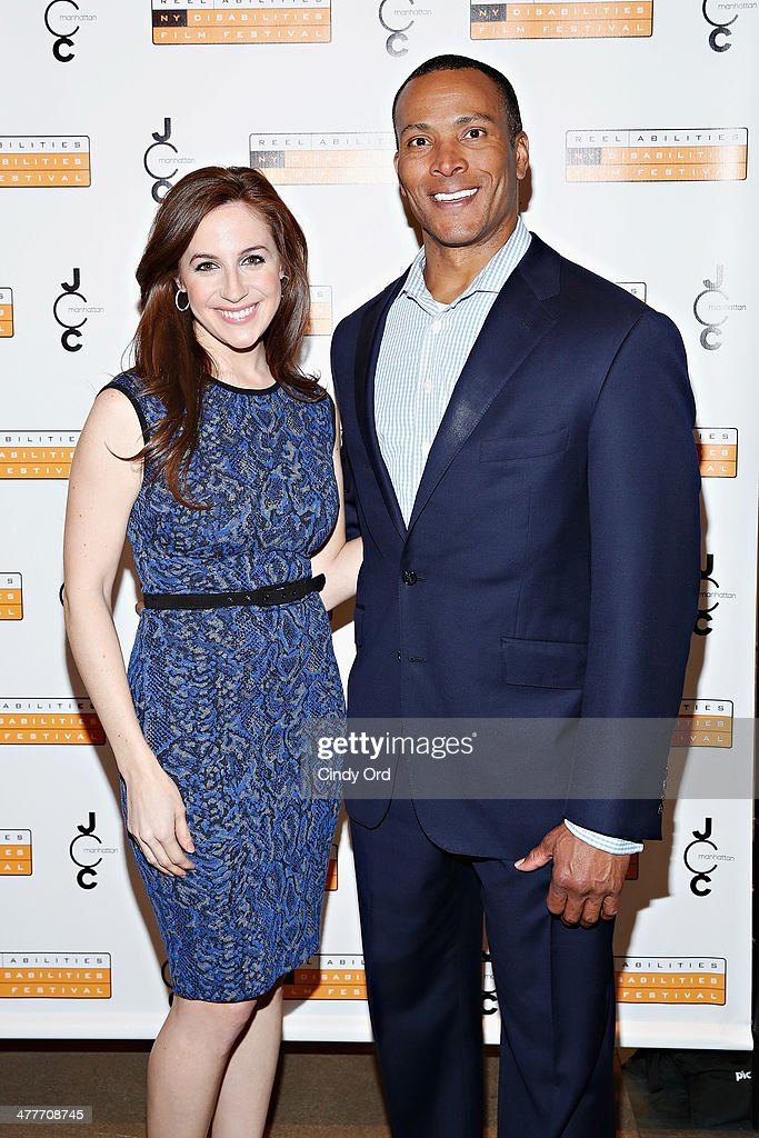 TV Personalities Teresa Priolo and Mike Woods attend the 'A Whole Lott More' screening at JCC in Manhattan on March 10, 2014 in New York City.