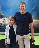 TV personalities Todd Chrisley and son Grayson Chrisley arrive at the premiere of Sony Pictures' 'Ghostbusters' at TCL Chinese Theatre on July 9 2016...