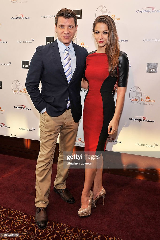 TV personalities Tom Murro and Kaitlin Monte attend Safe Horizon's 35th anniversary celebration at its annual gala at Pier Sixty at Chelsea Piers on May 9, 2013 in New York City.