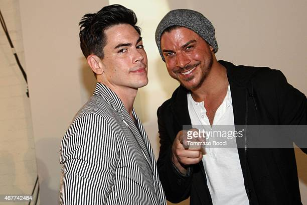 TV personalities Tom Sandoval and Jax Taylor attend the Timberland and American Rag present MarkMakers on March 26 2015 in Los Angeles California