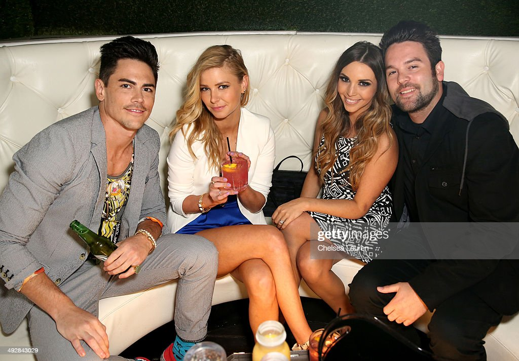 TV personalities Tom Sandoval, Ariana Madix, Scheana Marie and Mike Shay attend OK Magazine's So Sexy L.A. Event at LURE on May 21, 2014 in Los Angeles, California.
