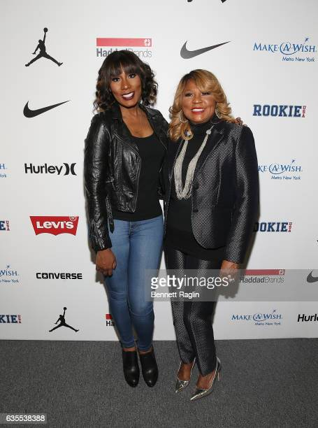 TV personalities Towanda Braxton and mother Evelyn Braxton attend the Rookie USA Fashion Show during New York Fashion Week The Shows at Skylight...