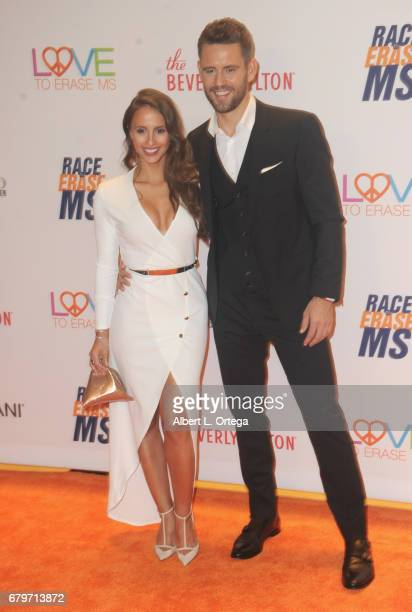 TV personalities Vanessa Grimaldi and Nick Viall arrives for the 24th Annual Race To Erase MS Gala held at The Beverly Hilton Hotel on May 5 2017 in...