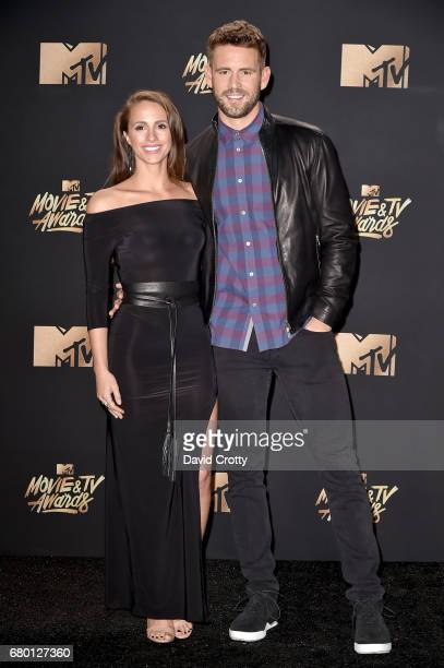 TV personalities Vanessa Grimaldi and Nick Viall attend the 2017 MTV Movie And TV Awards at The Shrine Auditorium on May 7 2017 in Los Angeles...