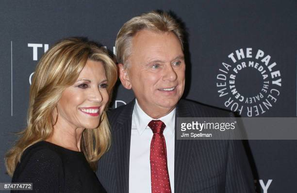 TV personalities Vanna White and Pat Sajak attend The Wheel of Fortune 35 Years as America's Game hosted by The Paley Center For Media at The Paley...