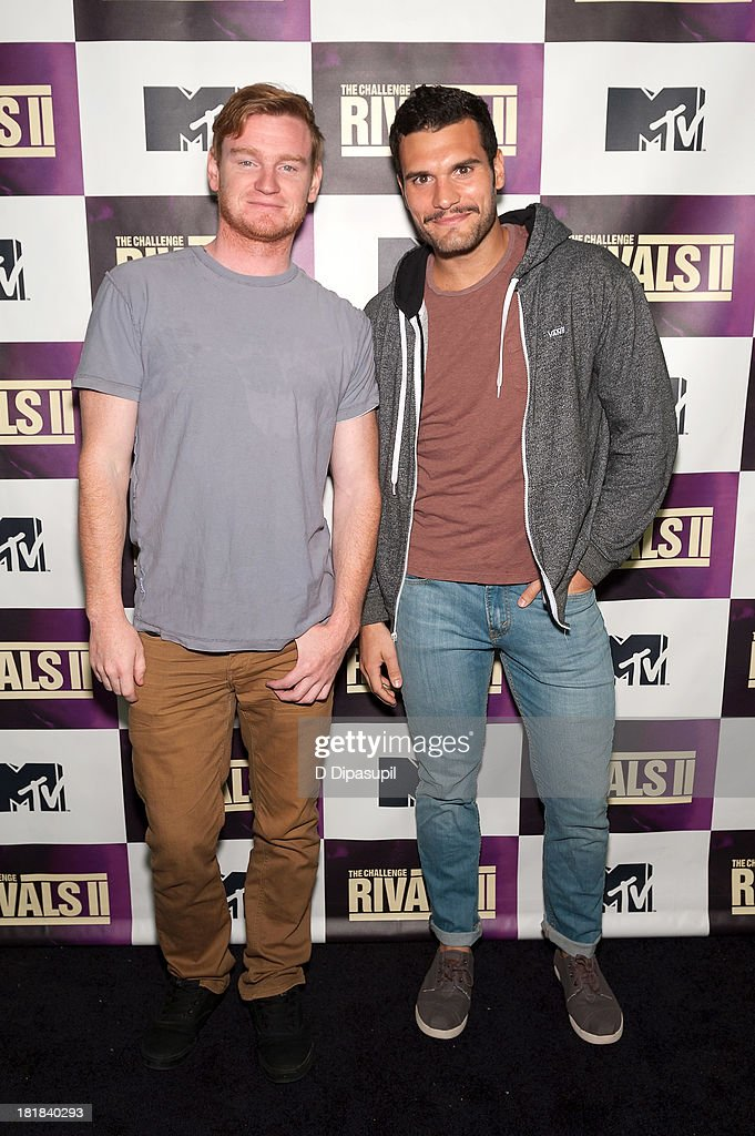TV personalities Wes Bergmann (L) and Frank Sweeney attend MTV's 'The Challenge: Rivals II' Final Episode and Reunion Party at Chelsea Studio on September 25, 2013 in New York City.