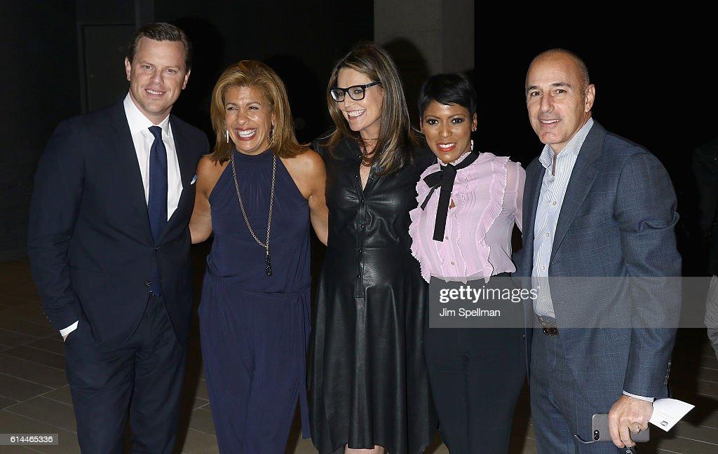 TV personalities Willie Geist, Hoda Kotb, Savannah Guthrie, Tamron Hall and Matt Lauer attend the 54th New York Film Festival 'Jackie' screening on October 13, 2016 in New York City.