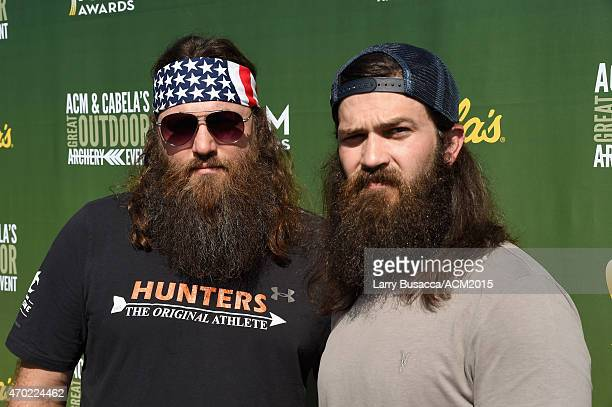 TV personalities Willie Robertson and Jep Robertson attend the ACM Cabela's Great Outdoor Archery Event during the 50th Academy of Country Music...