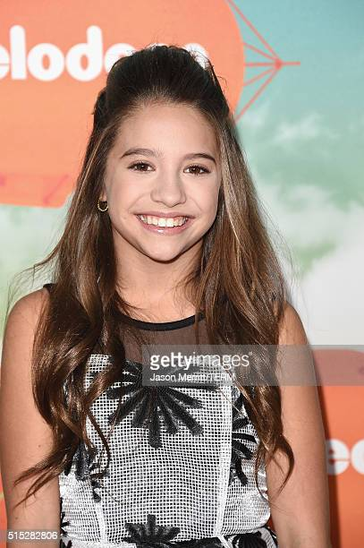 TV personalities/dancer Mackenzie Ziegler attend Nickelodeon's 2016 Kids' Choice Awards at The Forum on March 12 2016 in Inglewood California