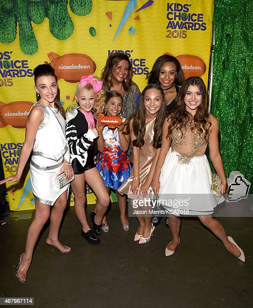 TV personalities/dancers Kendall Vertes Kalani Hilliker tv personality Abby Lee Miller dancers Mackenzie Ziegler Maddie Ziegler Jojo Siwa and Nia...