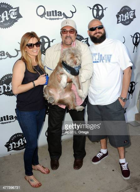 TV personalities/reality stars Brandi Passante actor Daniel Zacapa and Jarrod Schulz attend the Premiere Party For 'Storage Wars' Season 4 held at...