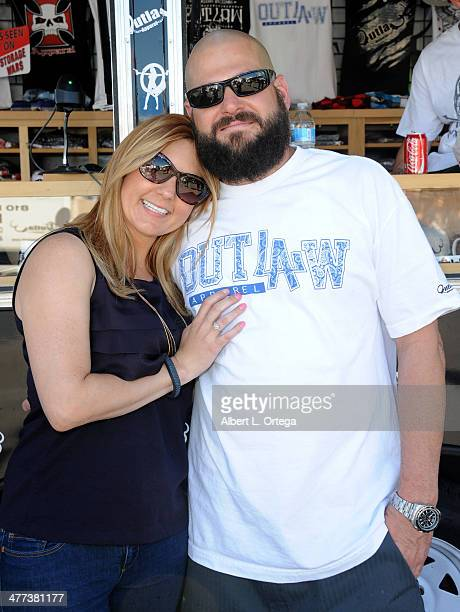 TV personalities/reality stars Brandi Passante and Jarrod Schulz attend the Premiere Party For 'Storage Wars' Season 4 held at Now and Then Thrift...