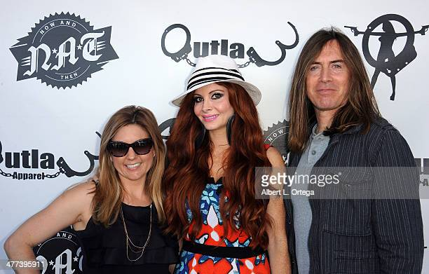TV personalities/reality stars Brandi Passante Phoebe Price and James Mitchell attend the Premiere Party For 'Storage Wars' Season 4 held at Now and...