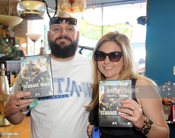 TV personalities/reality stars Jarrod Schulz and Brandi Passante attend the Premiere Party For 'Storage Wars' Season 4 held at Now and Then Thrift...