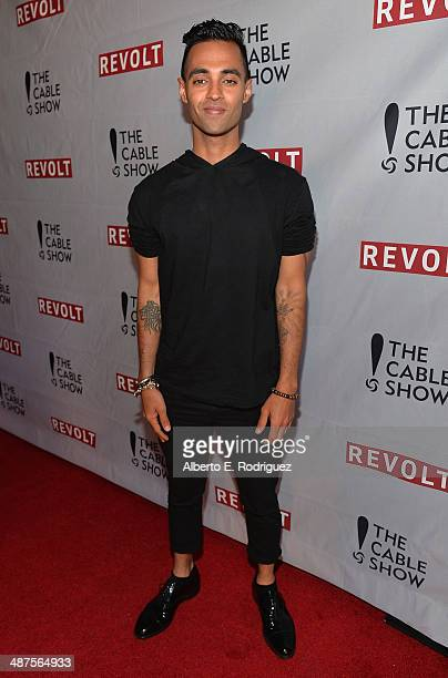 TV personalitiy Amrit Singh attends REVOLT and The National Cable and Telecommunications Association's Celebration of Cable at Belasco Theatre on...