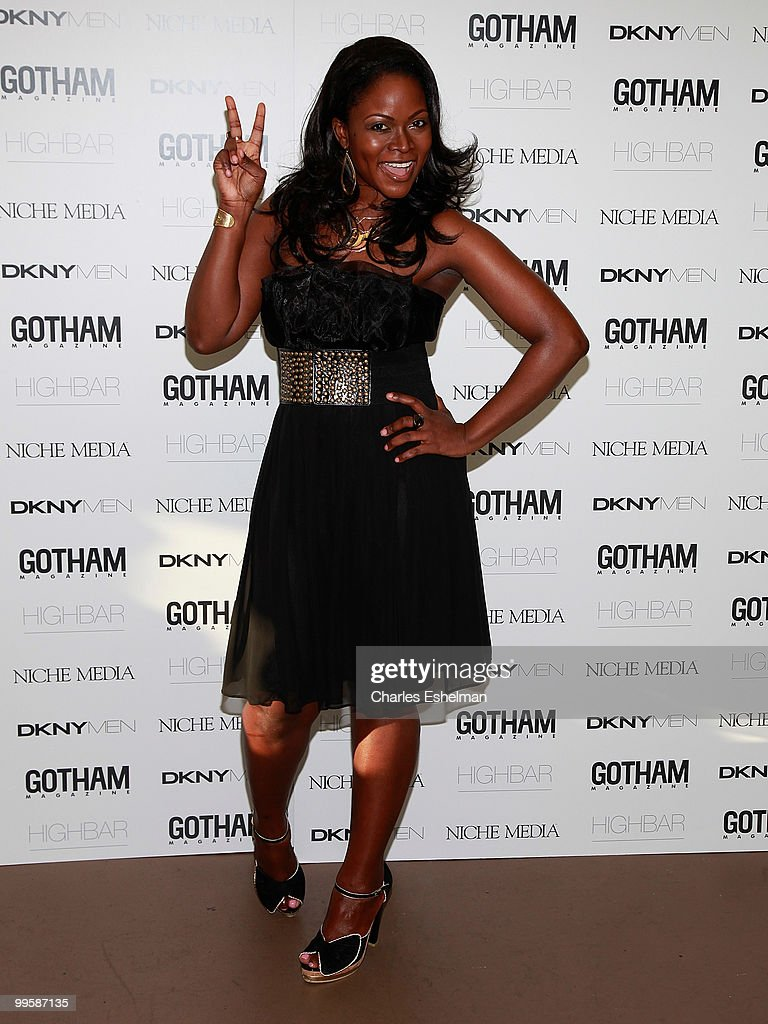 TV personality Abiola Abrams attends the Alex Rodriguez cover party hosted by Jason Binn & Niche Media's Gotham Magazine at Highbar on May 15, 2010 in New York City.