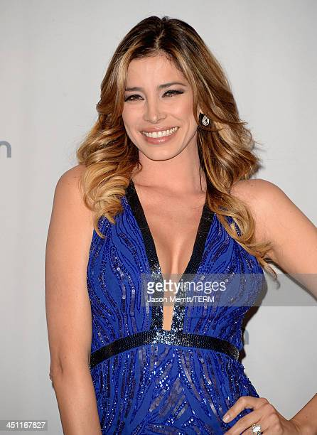 TV personality Aída Yéspica poses in the press room at the 14th Annual Latin GRAMMY Awards held at the Mandalay Bay Events Center on November 21 2013...