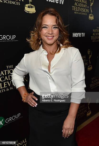 TV personality Adamari López attends The 41st Annual Daytime Emmy Awards at The Beverly Hilton Hotel on June 22 2014 in Beverly Hills California