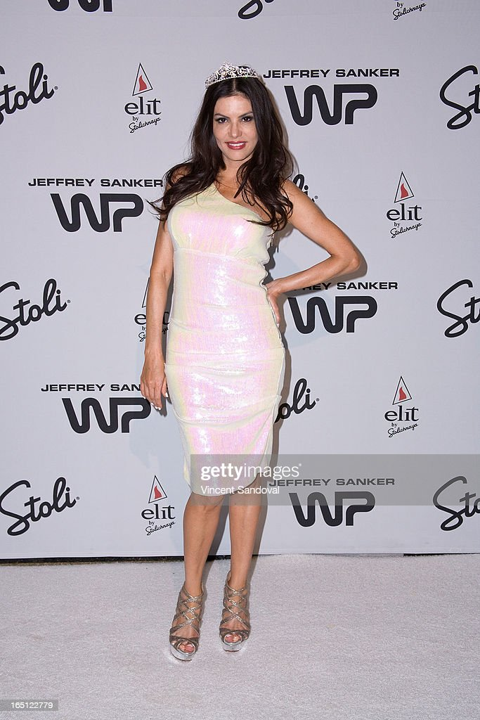 TV personality Adriana De Moura attends The White Party during Jeffrey Sanker Presents White Party Palm Springs 2013 - Day 2 at the Convention Center on March 30, 2013 in Palm Springs, California.