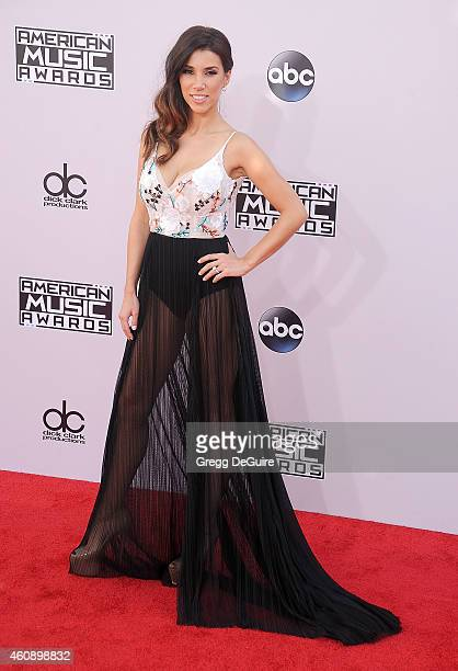 TV personality Adrianna Costa arrives at the 2014 American Music Awards at Nokia Theatre LA Live on November 23 2014 in Los Angeles California