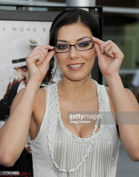 TV personality Adrianne Curry arrives at the Los Angeles premiere of 'The Grandmaster' at ArcLight Cinemas on August 22 2013 in Hollywood California