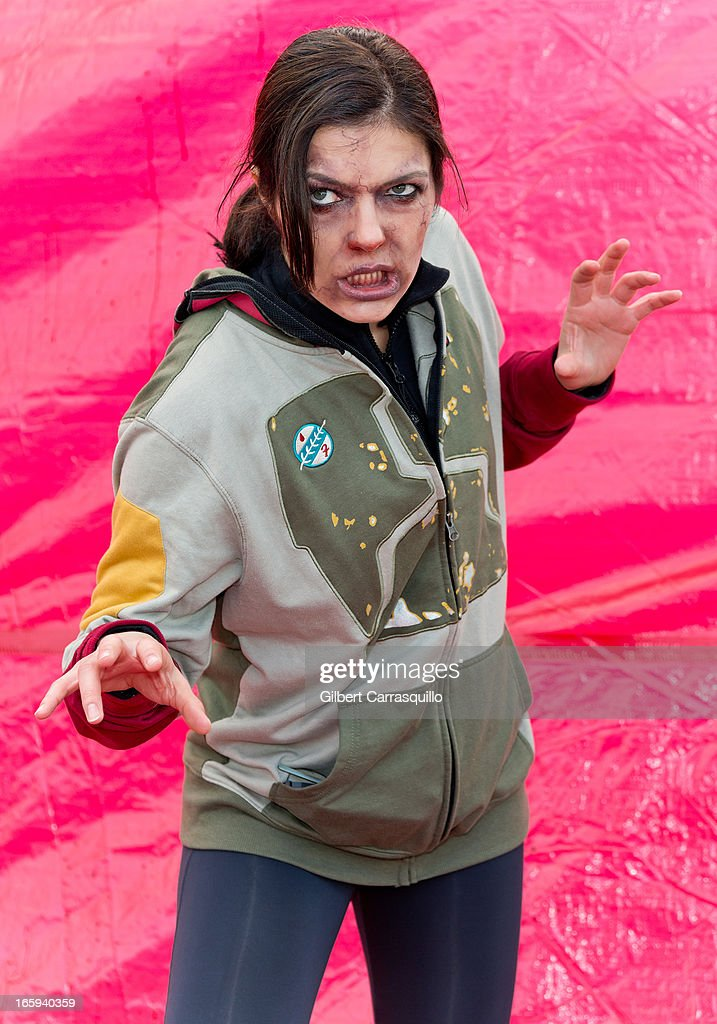 TV Personality <a gi-track='captionPersonalityLinkClicked' href=/galleries/search?phrase=Adrianne+Curry&family=editorial&specificpeople=715970 ng-click='$event.stopPropagation()'>Adrianne Curry</a> attends the Zombie Run U.S. 2013 Tour Kickoff on April 7, 2013 in Philadelphia, Pennsylvania.