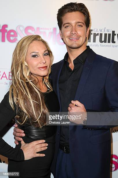 TV personality Adrienne Maloof and Jacob Busch arrive at Life Style's Hollywood in Bright Pink event hosted by Giuliana Rancic at Bagatelle on...