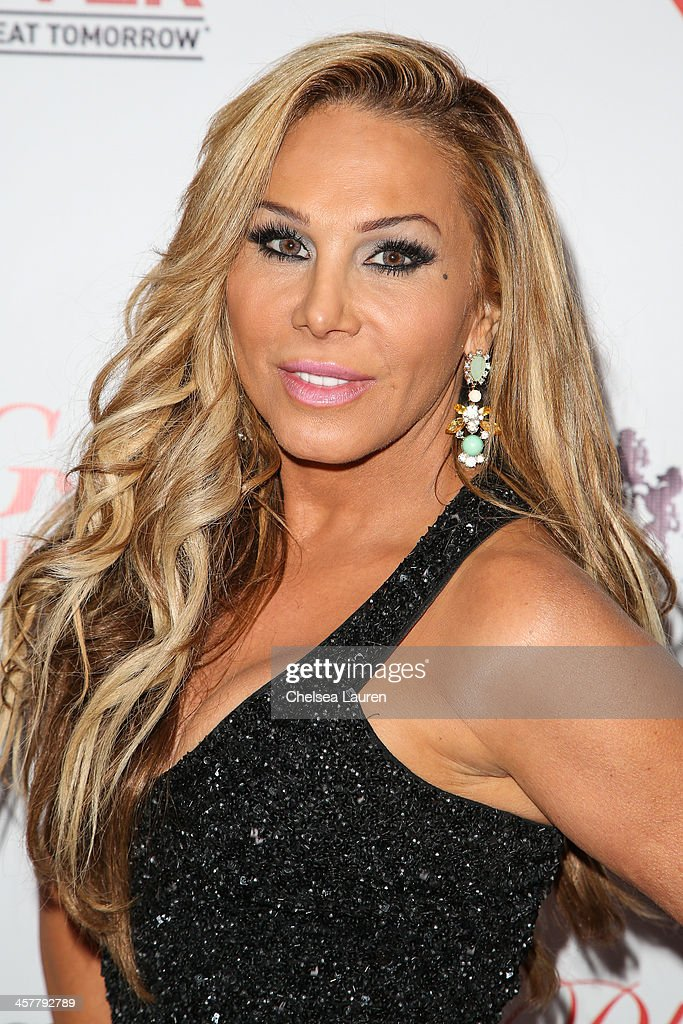 TV personality Adrienne Maloof arrives at The Maloof Foundation and Jacob's Peter W. Busch family foundation holiday toy donation on December 18, 2013 in Beverly Hills, California.