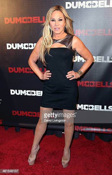 TV personality Adrienne Maloof attends the premiere of GoDigital's 'Dumbbells' at SupperClub Los Angeles on January 7 2014 in Los Angeles California
