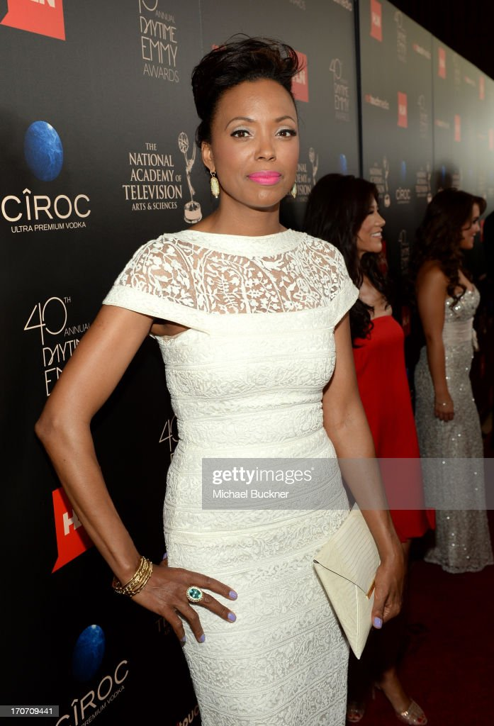 TV personality <a gi-track='captionPersonalityLinkClicked' href=/galleries/search?phrase=Aisha+Tyler&family=editorial&specificpeople=202262 ng-click='$event.stopPropagation()'>Aisha Tyler</a> attends the 40th Annual Daytime Emmy Awards at the Beverly Hilton Hotel on June 16, 2013 in Beverly Hills, California. 23774_001_0432.JPG