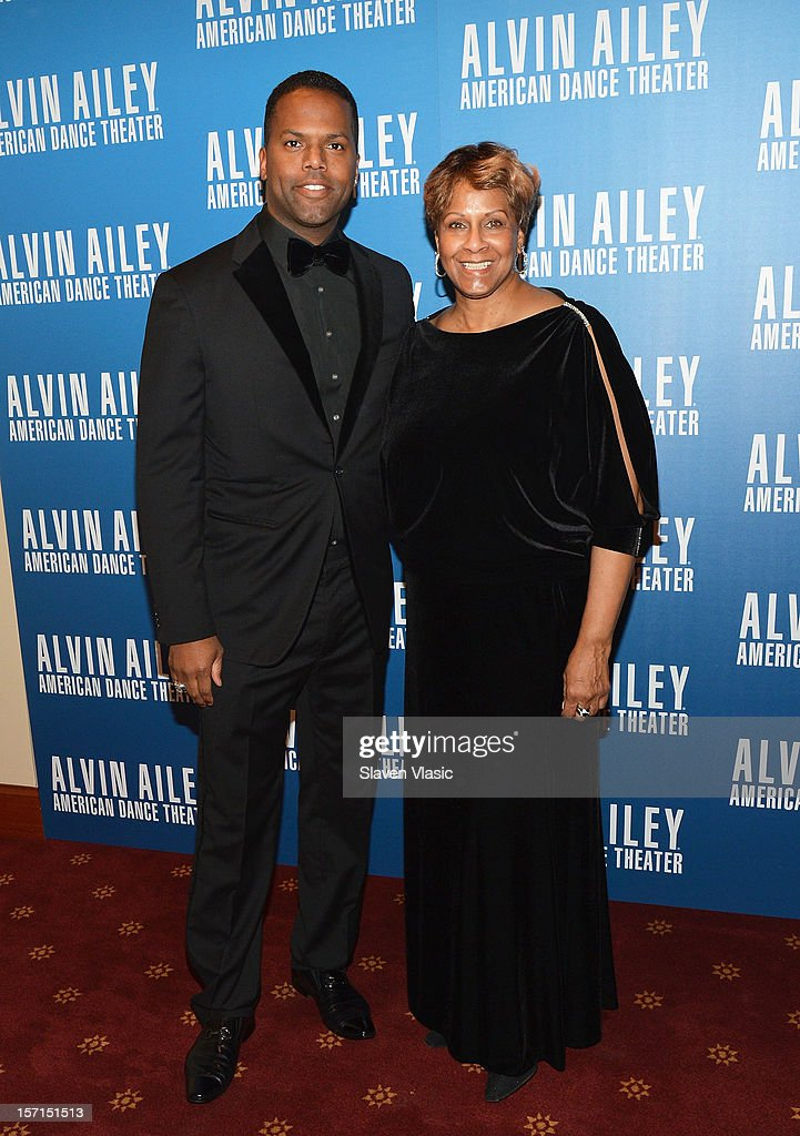 TV Personality AJ Calloway and mother Carol attend the Alvin Ailey American Dance Theater Opening Night Gala at New York City Center on November 28, 2012 in New York City.