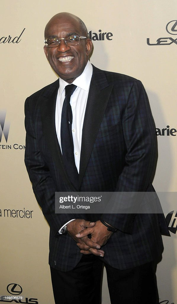 TV personality Al Roker arrives for the Weinstein Company's 2013 Golden Globe Awards After Party - Arrivals on January 13, 2013 in Beverly Hills, California.