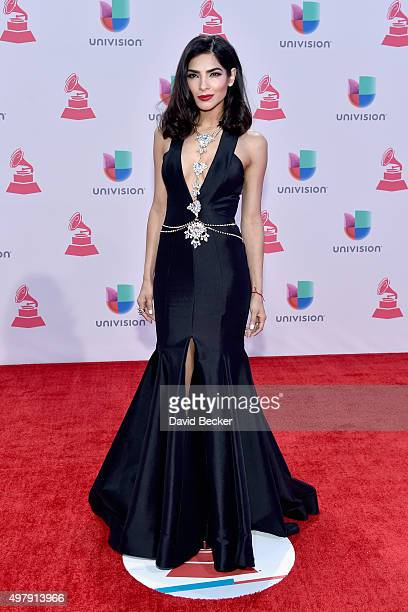 TV personality Alejandra Espinoza attends the 16th Latin GRAMMY Awards at the MGM Grand Garden Arena on November 19 2015 in Las Vegas Nevada